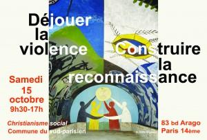 CS 15-10-16 Déjouer la violence - carte R°déf